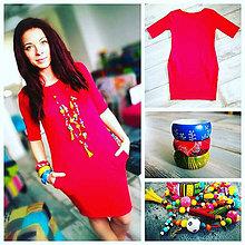 Šaty - Červené vreckové šaty - Reddress - 8093493_