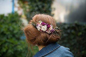 Ozdoby do vlasov - Kvetinový hrebienok \