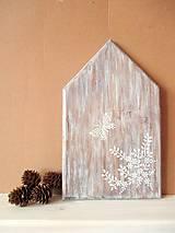 Dekorácie - Drevený dekoračný domček - 8093198_