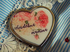 Zrkadielka - Svadobné zrkadielko pre svadobnú maminku - 8093668_