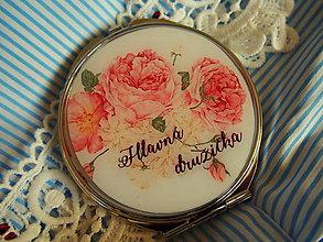Zrkadielka - Svadobné zrkadielko v guľatom tvare pre svadobčanov - 8093678_