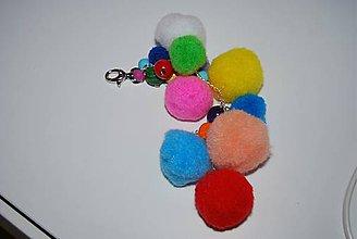 Kľúčenky - Farebný prívesok na kabelku - 8093628_
