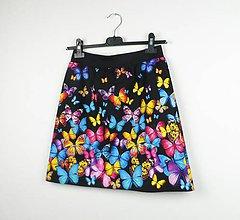 Sukne - Sukně motýlí - 8095783_
