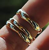"""Prstene - Obrúčky """"plynutie v harmónii"""" zlaté - 8097269_"""