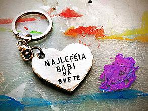 Kľúčenky - Najlepšia babi na svete - 8100033_