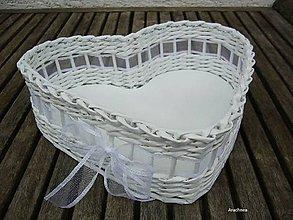 Košíky - Láska nebeská (biela organzová) - 8098983_