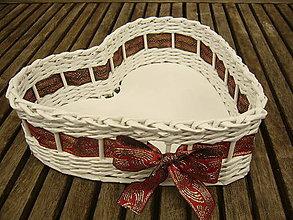 Košíky - Láska nebeská (červenozlatá) - 8099061_