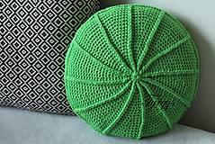 Úžitkový textil - Zelený vankúš - 8098343_