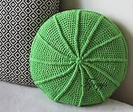 Úžitkový textil - Zelený vankúš - 8098344_