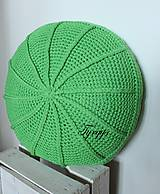 Úžitkový textil - Zelený vankúš - 8098347_