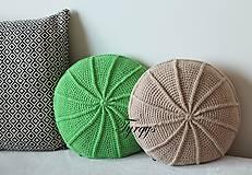 Úžitkový textil - Zelený vankúš - 8098348_