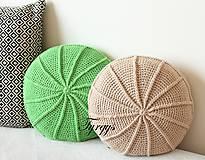 Úžitkový textil - Zelený vankúš - 8098349_