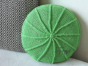 Úžitkový textil - Zelený vankúš - 8098345_