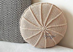 Úžitkový textil - Béžový vankúš - 8098387_