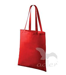 Polotovary - Taška ADLER-42x38 cm-100 % bavlna, dlhé ucho (červená) - 8096963_