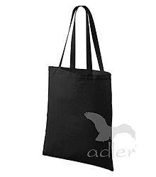 Polotovary - Taška ADLER - 42x38 cm - 100 % bavlna, dlhé ucho, čierna - 8097196_