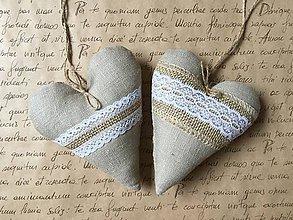 Darčeky pre svadobčanov - Srdiečka prírodné - 8096927_