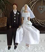 Bábiky - Svadobný pár - 8097221_