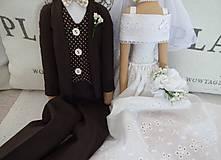 Bábiky - Svadobný pár - 8097223_