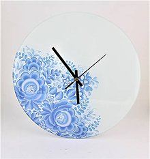 Hodiny - Hodiny modré kvety 3 - 8098663_
