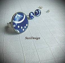 Sady šperkov - sada modrások v striebre - 8096523_