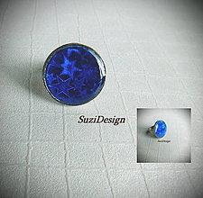 Prstene - hviezdny prstienok v kráľovskej modrej / 1 - 8096533_