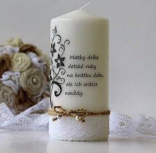Svietidlá a sviečky - Sviečka s venovaním -Deň matiek V. - 8098723_