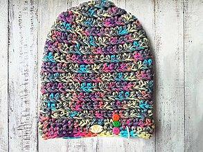 Čiapky - Crazy Color čiapka šedá 3 - 8096934_
