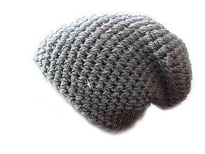Čiapky - Trblietavá čiapka šedá - 8097387_