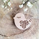 Odznaky/Brošne - Odznak Vtáčik Čičmany - 8097833_