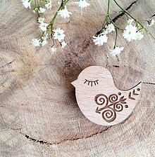 Odznaky/Brošne - Odznak Vtáčik Čičmany - 8097832_