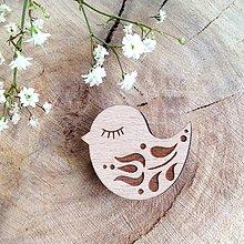 Odznaky/Brošne - Odznak Vtáčik tulipán - 8097847_