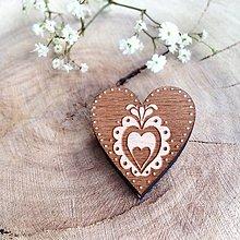 Odznaky/Brošne - Odznak Srdce Orava tmavé - 8097884_