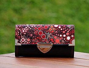 Peňaženky - Peněženka bubliny 19x10cm, 18 karet, na fotky - 8097738_