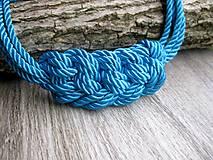 Náhrdelníky - Uzlový hrubý zo štyroch šnúr (tyrkysový hrubý č. 1972) - 8098843_