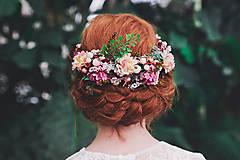 """Ozdoby do vlasov - Výpredaj z 34 eur Kvetinový polvenček """"stratená v snoch"""" - 8096586_"""
