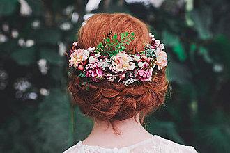 Ozdoby do vlasov - Výpredaj z 34 eur Kvetinový polvenček