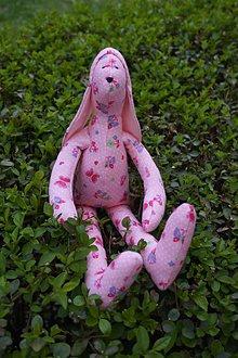 Hračky - zajko ružový - 8096515_