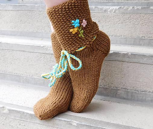 7756d8580 ľudové ponožky - papučové ( v.39-40) / Eva64 - SAShE.sk - Handmade Obuv