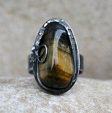 Prstene - Tigrie/sokolie oko prsteň - 8097952_