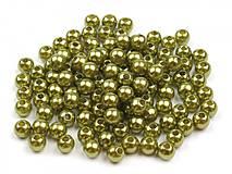 - Korálky 4mm, 100 ks - plastové (zelené) - 8096738_