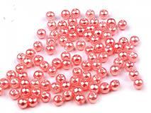 - Korálky 4mm, 100 ks - plastové (ružové) - 8097115_