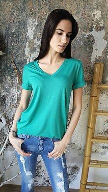 Tričká - Tričko Vilma smaragdovozelené - 8098462_