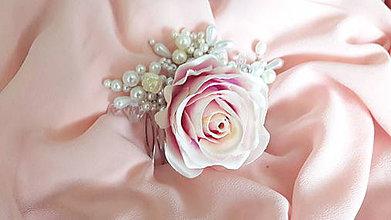 Iné šperky - Svadobný hrebienok rose - 8100422_