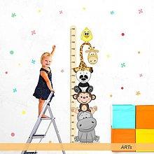 Dekorácie - (3599f) Nálepka na stenu - Meter so zvieratkami III - 8101433_