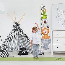 Dekorácie - (3598f) Nálepka na stenu - Meter so zvieratkami II - 8101457_