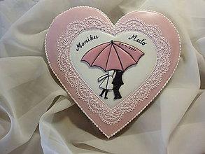 Dekorácie - Srdce pre mladomanželov - 8102263_