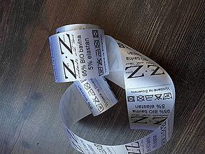 Materiál ručne robený - Textilné etikety - Saténové 10ks - 8102592_