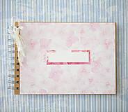 - Scrapbook album / kniha hostí Hortenzie - 8101293_