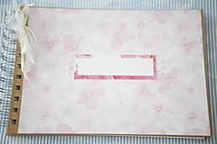 Papiernictvo - Scrapbook album / kniha hostí Hortenzie - 8101295_